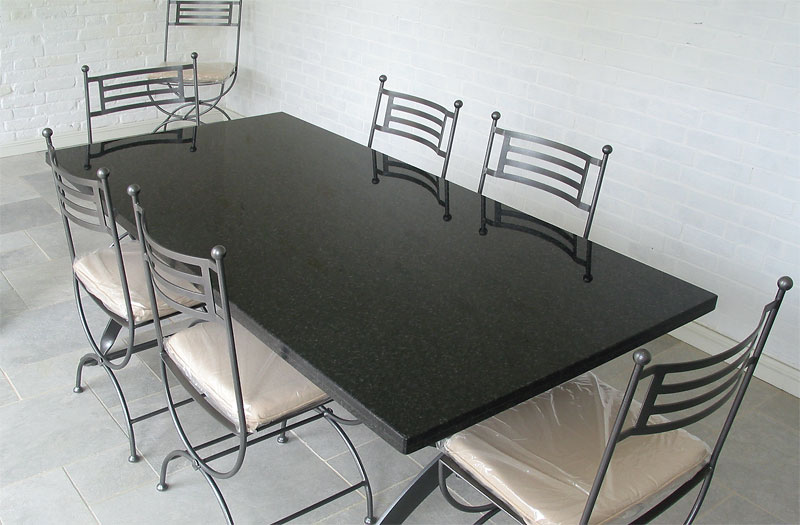 Black Granite Table – Mosaic and Stone Tables