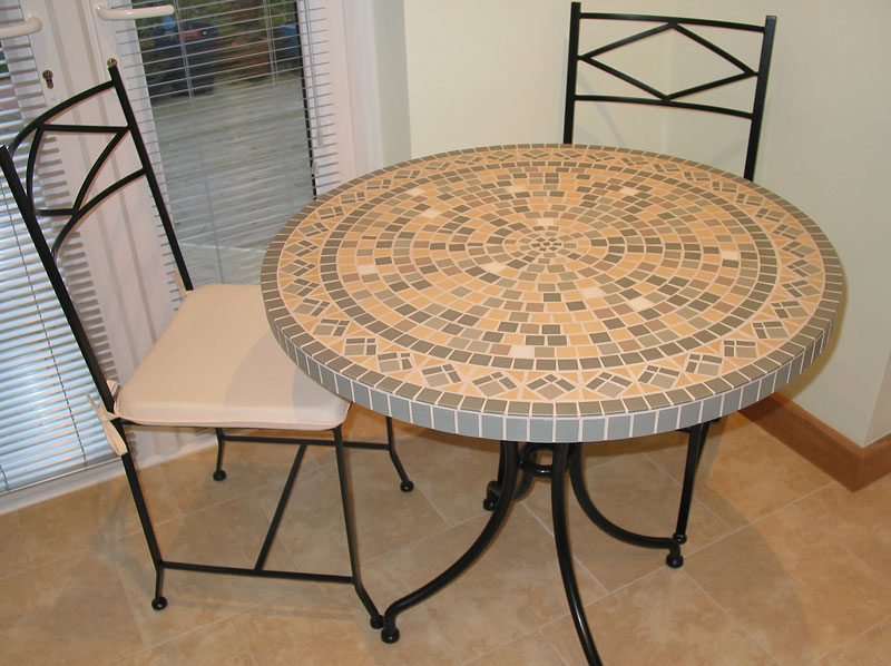 Log Dining Chairs : circular mosaic table from chairs52.com size 800 x 598 jpeg 107kB